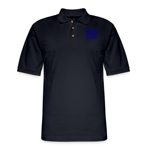 8teen blue not 50 - Men's Pique Polo Shirt