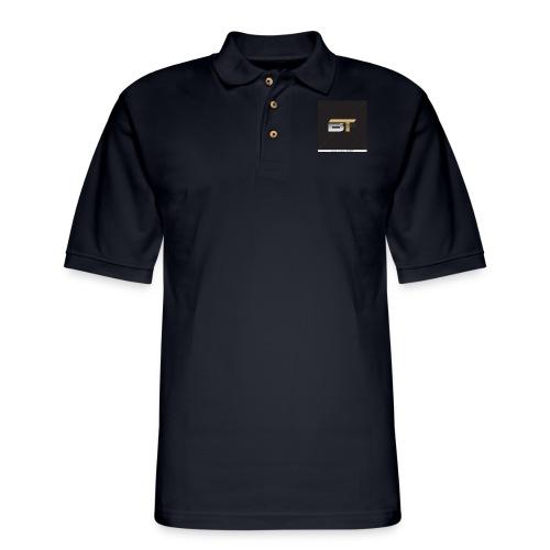 BT logo golden - Men's Pique Polo Shirt