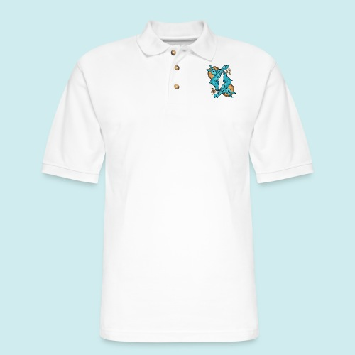 Lucky Rabbit - Men's Pique Polo Shirt