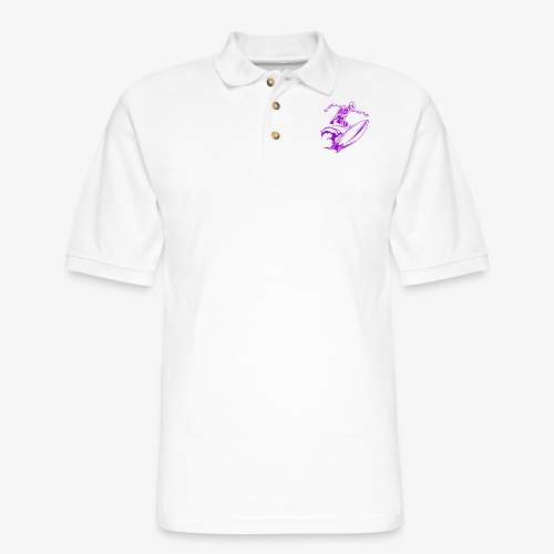 Surfing Skeleton 3b - Men's Pique Polo Shirt