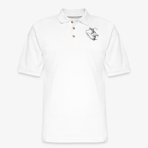 Surfing Skeleton 2 - Men's Pique Polo Shirt