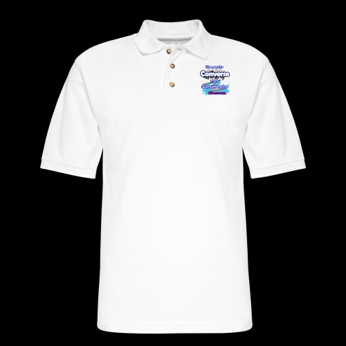 Converse not Conversate - Men's Pique Polo Shirt