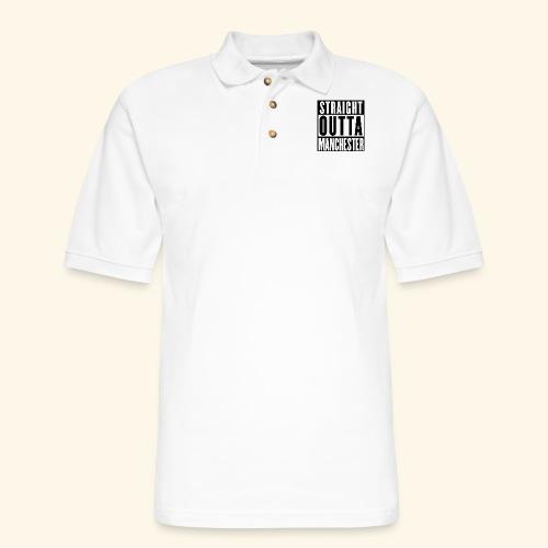 STRAIGHT OUTTA MANCHESTER - Men's Pique Polo Shirt