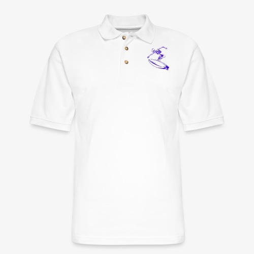 Surfing Skeleton 4c - Men's Pique Polo Shirt