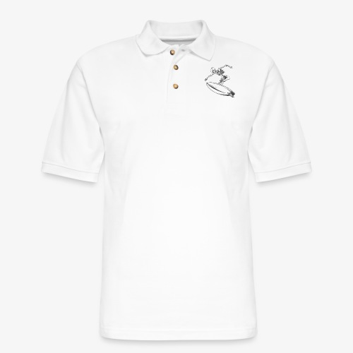 Surfing Skeleton 4 - Men's Pique Polo Shirt