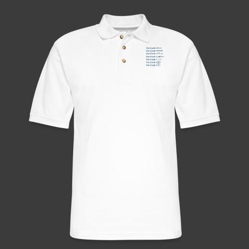 Include List (Light Background) - Men's Pique Polo Shirt