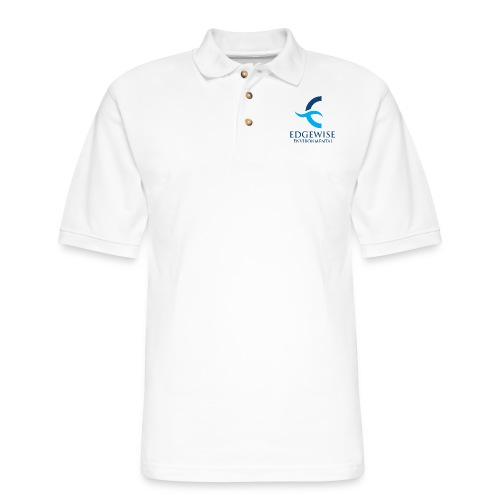 Edgewise Environmental (BLUE LOGO) - - Men's Pique Polo Shirt