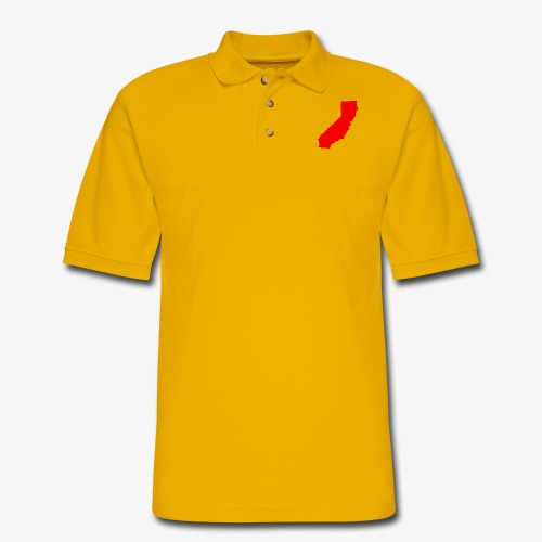 Flip Cali Red - Men's Pique Polo Shirt
