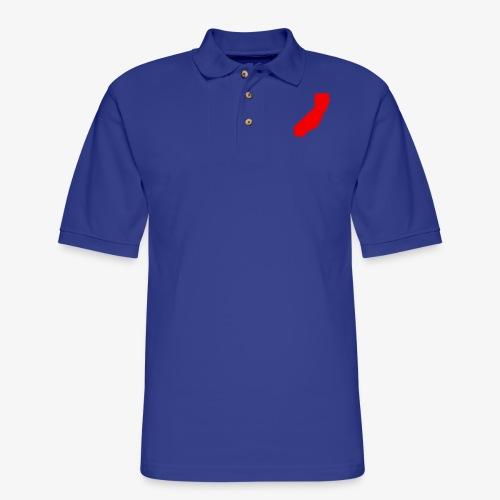 Flip Cali Red - Men's Pique Polo Shirt