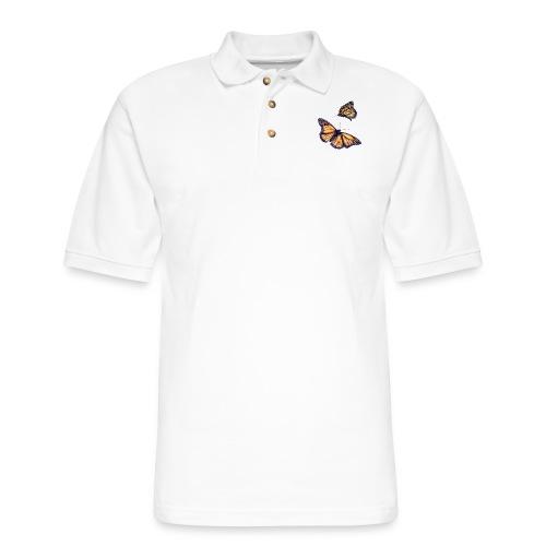 2 butterflies - Men's Pique Polo Shirt