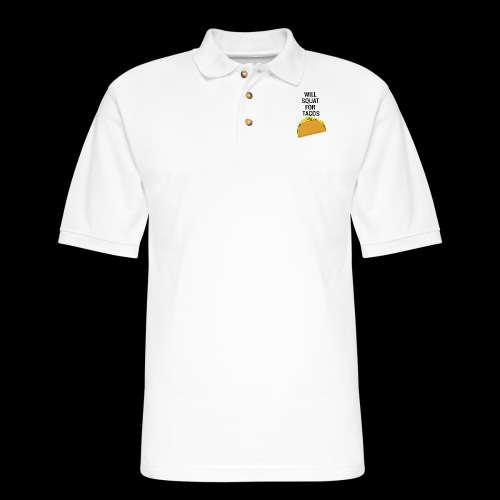 Squat for Tacos - Men's Pique Polo Shirt