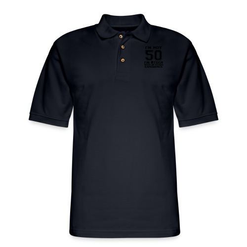 8teen black not 50 - Men's Pique Polo Shirt