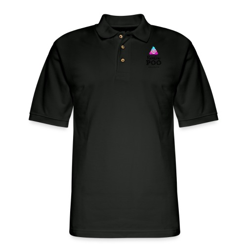 Rainbow Poo - Men's Pique Polo Shirt