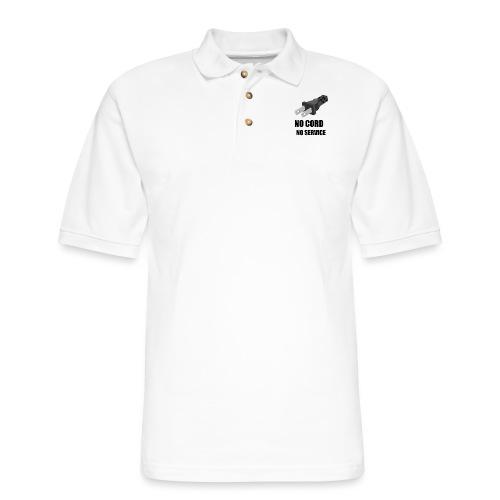No Cord, No Service - Men's Pique Polo Shirt