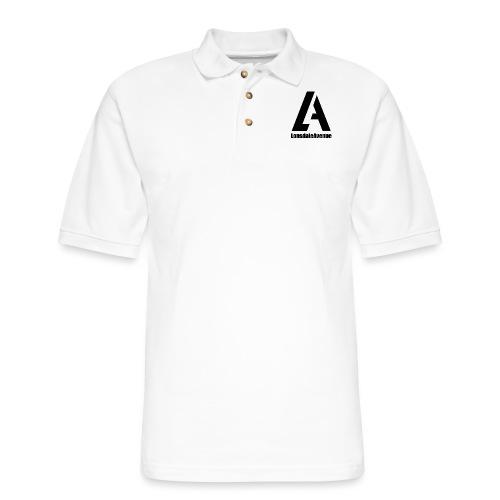 Lonsdale Avenue Logo Black Text - Men's Pique Polo Shirt