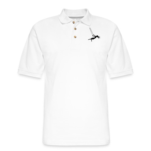 Swinging Girl - Men's Pique Polo Shirt