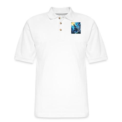 Blue lighting dragom - Men's Pique Polo Shirt