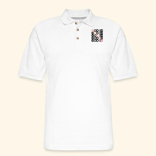GOD IS #1 - Men's Pique Polo Shirt