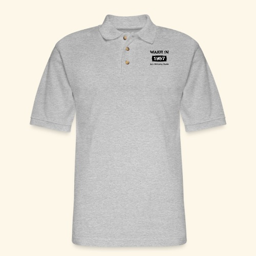 Birthday Gifts Made 1957 All Original Parts - Men's Pique Polo Shirt