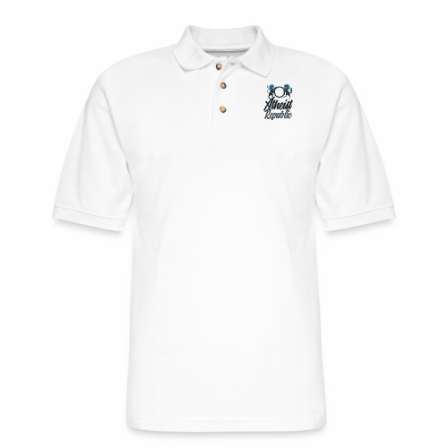 Atheist Republic Italics - Men's Pique Polo Shirt
