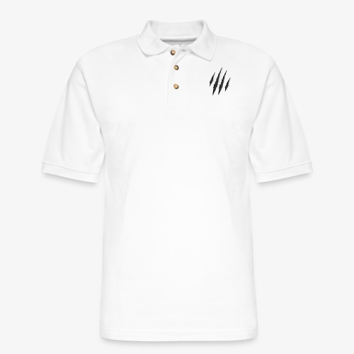 claws t-shirt design - Men's Pique Polo Shirt