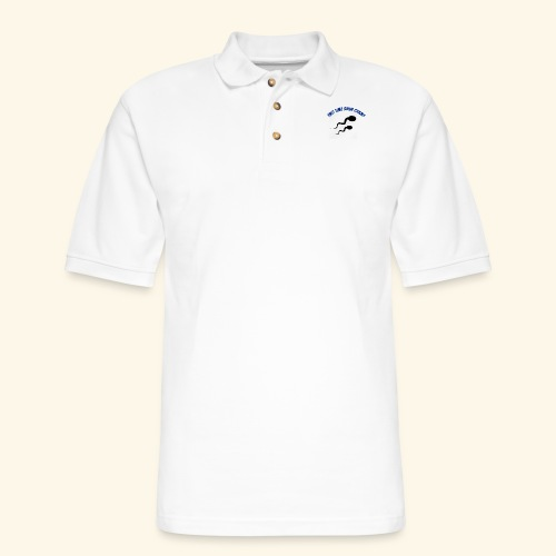 Adult Fathers day swim champ - Men's Pique Polo Shirt