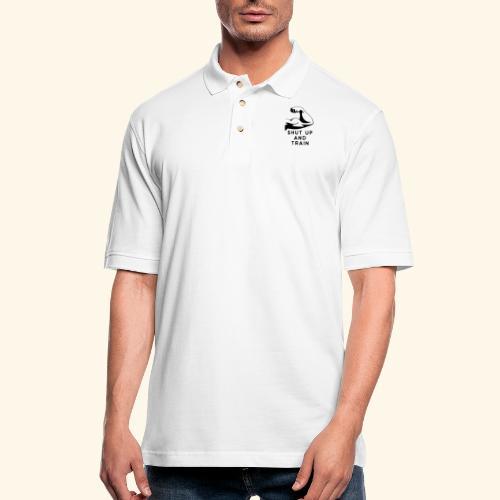 shut up and train! - Men's Pique Polo Shirt