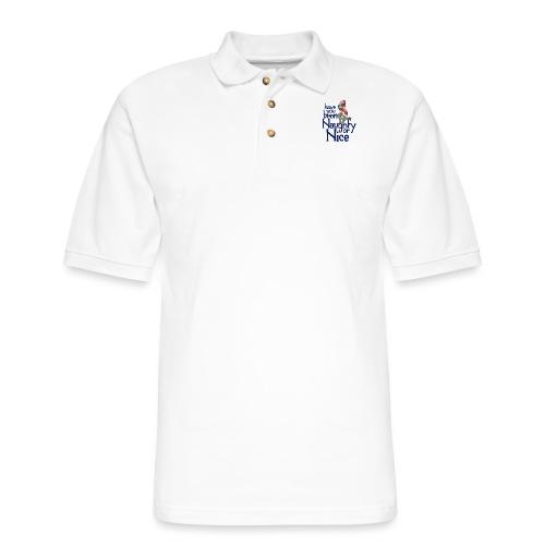 Have you been naughty or nice - Men's Pique Polo Shirt