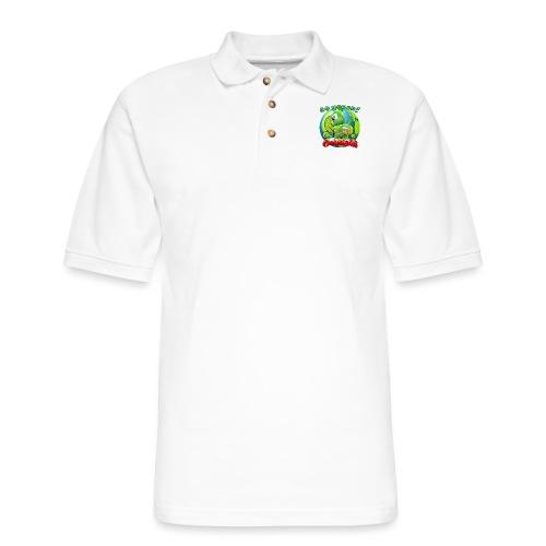 Gummibär Go Green Earth Day Earth - Men's Pique Polo Shirt