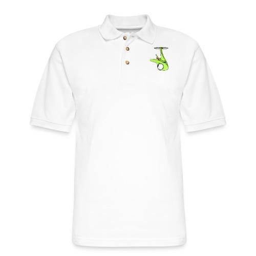 Funny Green Ostrich - Men's Pique Polo Shirt
