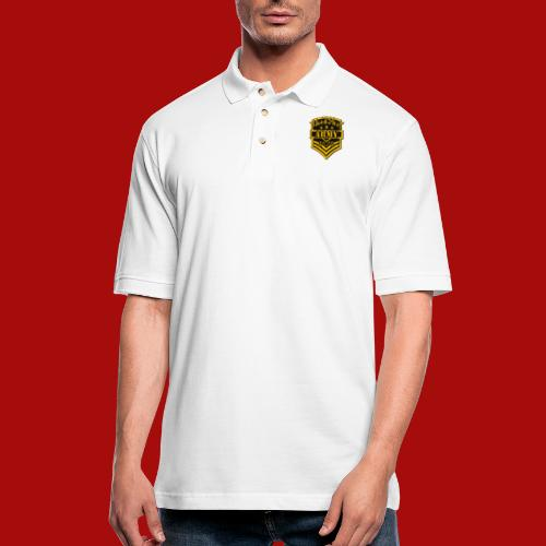 BloodShot ARMYLogo Gold /Black - Men's Pique Polo Shirt