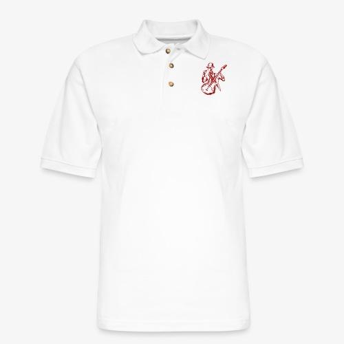 Rock n Roll Skeleton 03 - Men's Pique Polo Shirt