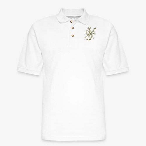 Rock n Roll Skeleton 02 - Men's Pique Polo Shirt
