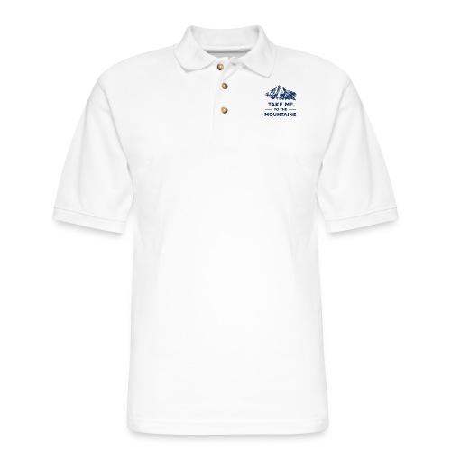 Take me to the mountains T-shirt - Men's Pique Polo Shirt