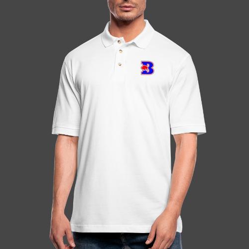B BUFFALO - Men's Pique Polo Shirt