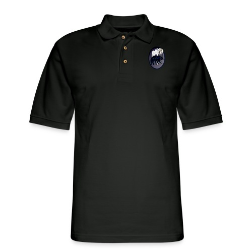 Two Wolves-oval - Men's Pique Polo Shirt