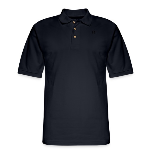 SD Designs blue, white, red/black merch - Men's Pique Polo Shirt