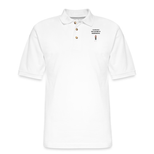 I Survived The Napier Street Roadworks - Men's Pique Polo Shirt