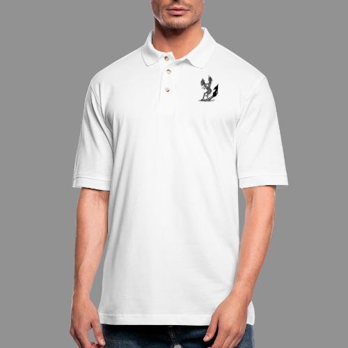 Wolfman Originals Black & White 18 - Men's Pique Polo Shirt