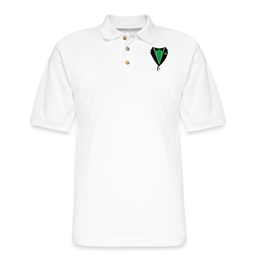 Jamaican Tuxedo Green - Men's Pique Polo Shirt