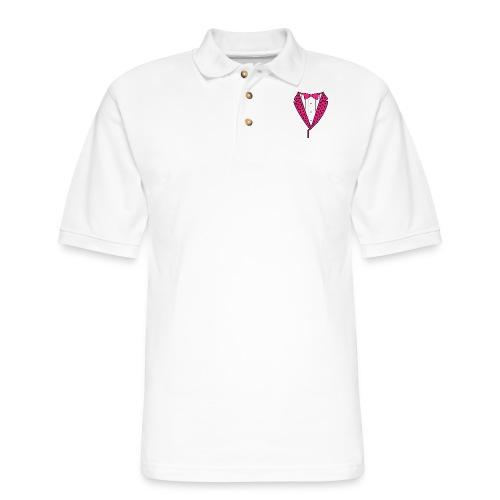 PINK STAR TUXEDO - Men's Pique Polo Shirt