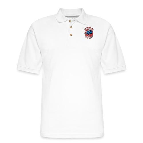 Judo Levitation for white shirt - Men's Pique Polo Shirt