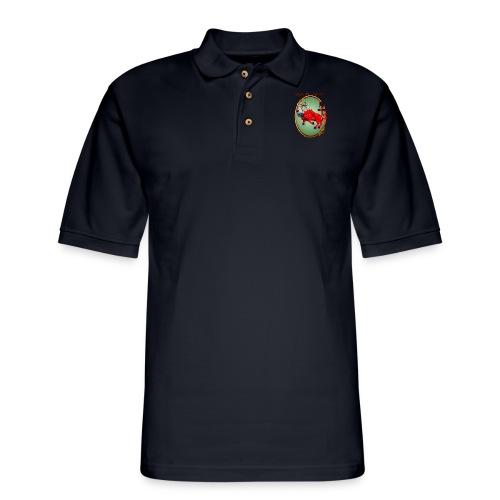 The Red Ox Oval - Men's Pique Polo Shirt