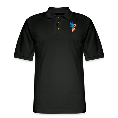 Butterfly Bubbles - Men's Pique Polo Shirt
