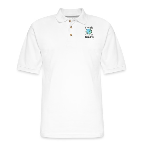 Play Nice or you are toast - Men's Pique Polo Shirt