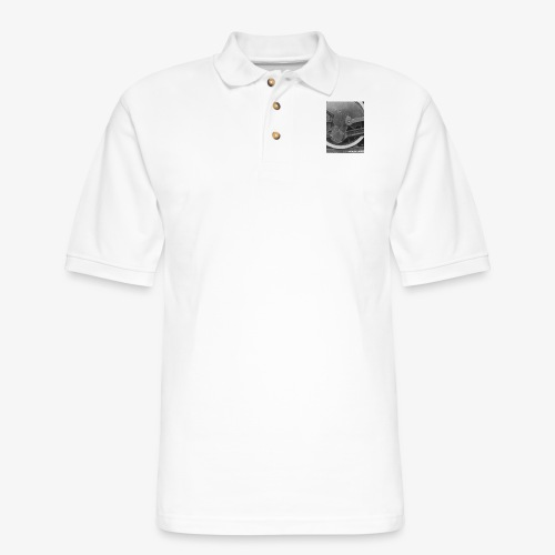 Steam Train Wheel - Men's Pique Polo Shirt