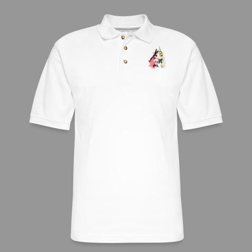 Micha and Kirika Tiddy Bunsuit - Men's Pique Polo Shirt