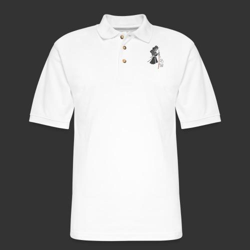 Samurai (Digital Print) - Men's Pique Polo Shirt