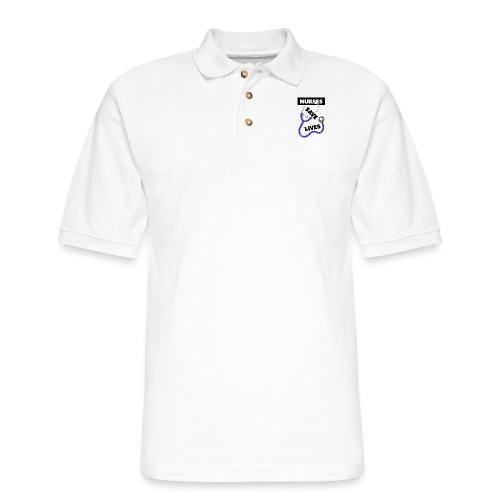 Nurses save lives purple - Men's Pique Polo Shirt