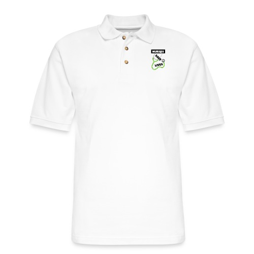 Nurses save lives green - Men's Pique Polo Shirt
